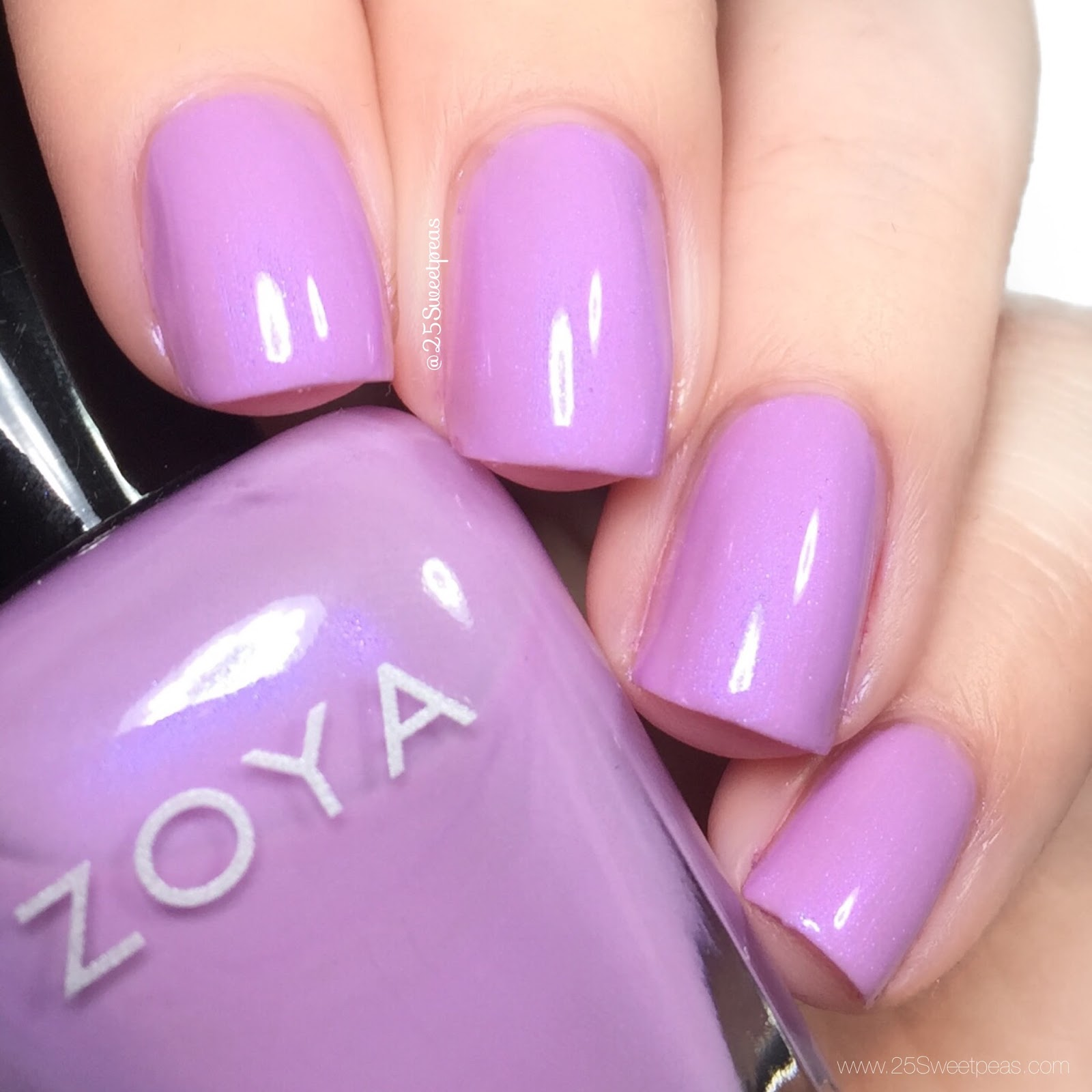 Zoya thrive spring 2018 25 sweetpeas this polish color wise is lovely its the only one that i has formula issues with though it was an issue i think of running down the stem of the brush too reheart Gallery