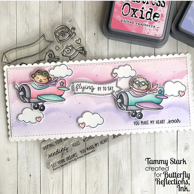 Sunny Studio Stamps: Plane Awesome Customer Card by Tammy Stark