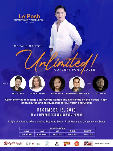 Gerald Santos headlines UNLIMITED, A CONCERT FOR A CAUSE