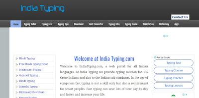 Learn Hindi typing