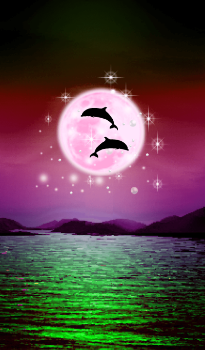 Lucky Strawberry Moon double dolphins 17