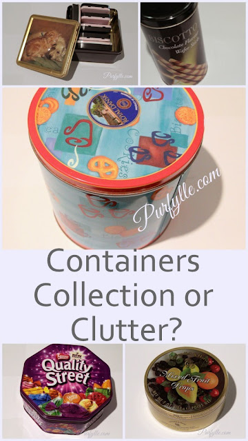 Tins. Containers, a collection or clutter?