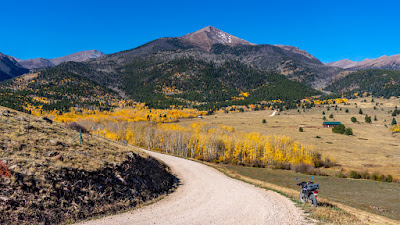 Fall Colors at the base of the nearby Sangre de Cristo Mountains