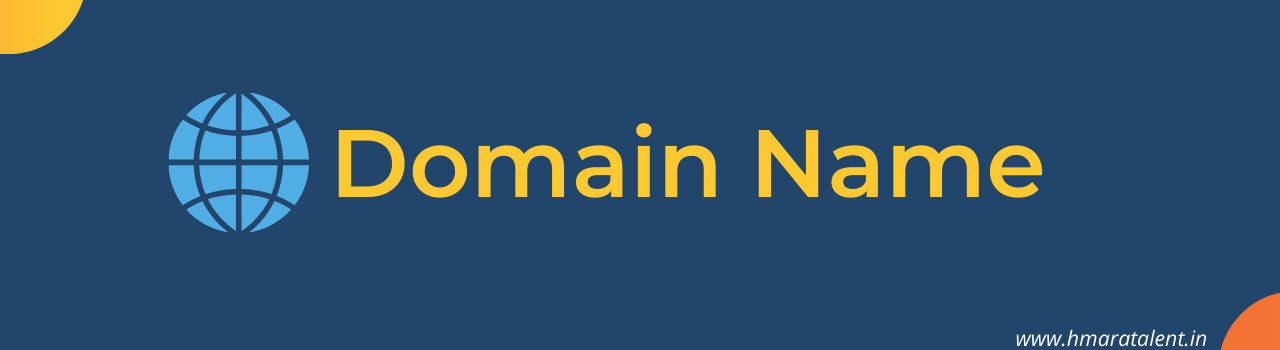 The domain name is a component of a uniform resource locator (URL) used to access web sites, for example, URL: http://www.hmaratalent.in/p/who-is-ahbab-zameer.html. Hmaratalent.in - A Domain Name (alert-success) In Blogger, we will get a default domain name that is free of cost looks like www.hmaratalent.blogspot.com but to make it professional we can purchase Custome Domain Name through Domain Providers companies.  But I would request you please use the default domain and learn the basic of blogging and when you feel you have done so you can go for that.   Normally Per Year Domain fees is 500 INR but if Domain Providers are giving Flash sale with a discount so we can get it by 99 INR, 100 INR etc.