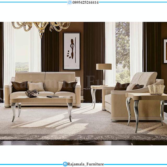 Sofa Ruang Tamu Minimalis Classic Design Soft Foam Mebel Jepara RM-0317