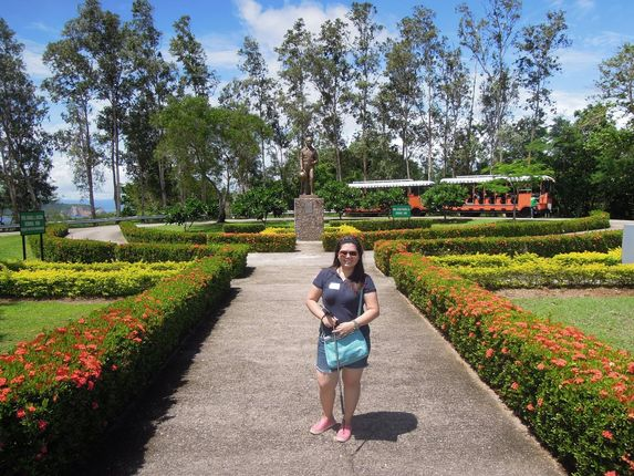 Garden in front of the Filipino Heroes Memorial at Corregidor Island