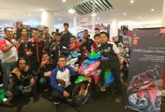 Komunitas Matic Honda mengikuti Vario Custom Clinic