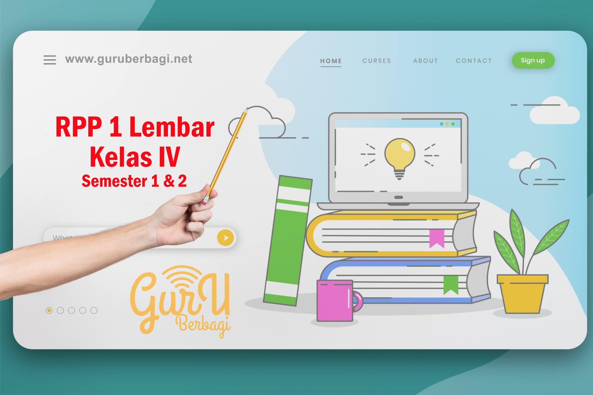 Rpp 1 Lembar Kelas 4 Semester 1 Dan 2 Revisi 2020 2021 Guru Berbagi