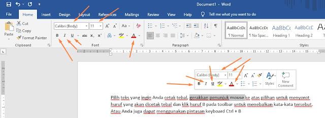 Cara Mengatur Format Teks pada Microsoft Word