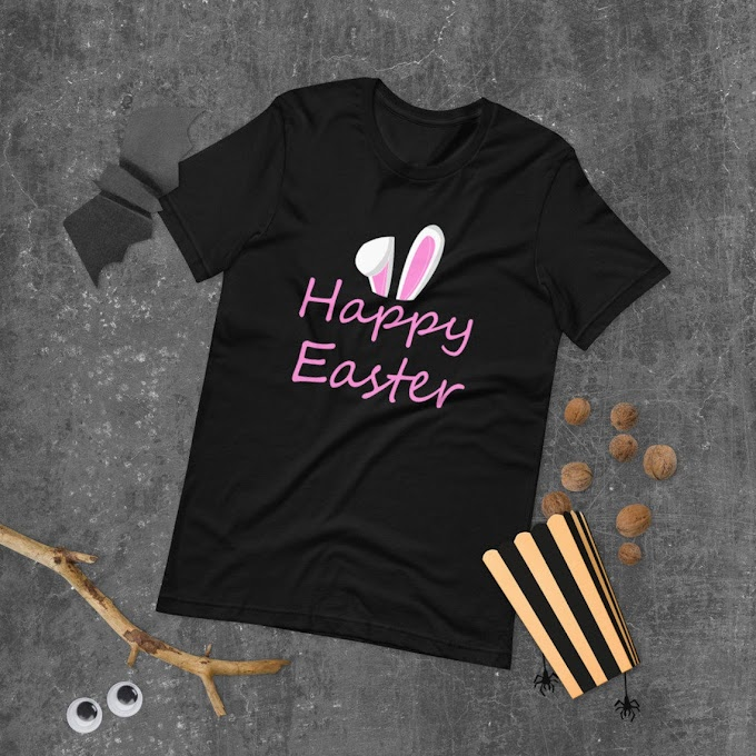 Happy Easter Shirt, Bunny Shirt, Easter woman's shirt