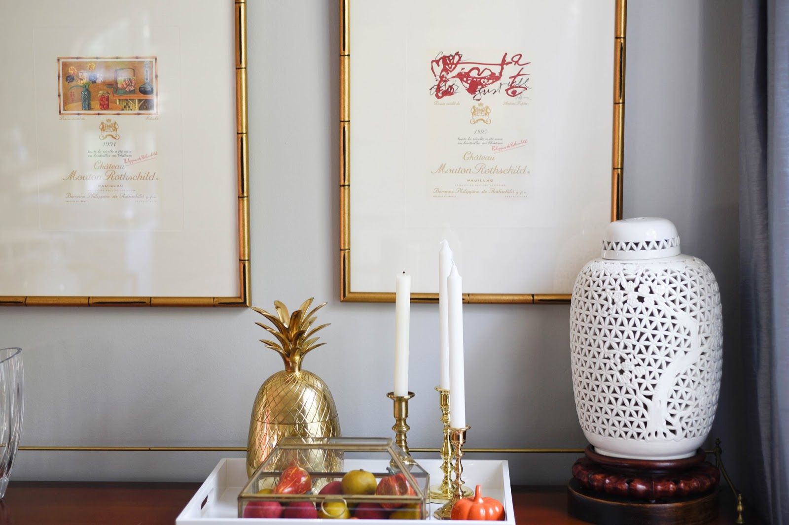 Decorating your barcart for Fall Dining Room Fall decorations www.homewithkeki.com #falldecor #diningrooms #fall