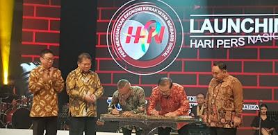 Ketum PWI dan Gubernur Jawa Timur Tandatangani Kerjasama Pelaksanaan Hari Pers Nasional (HPN)