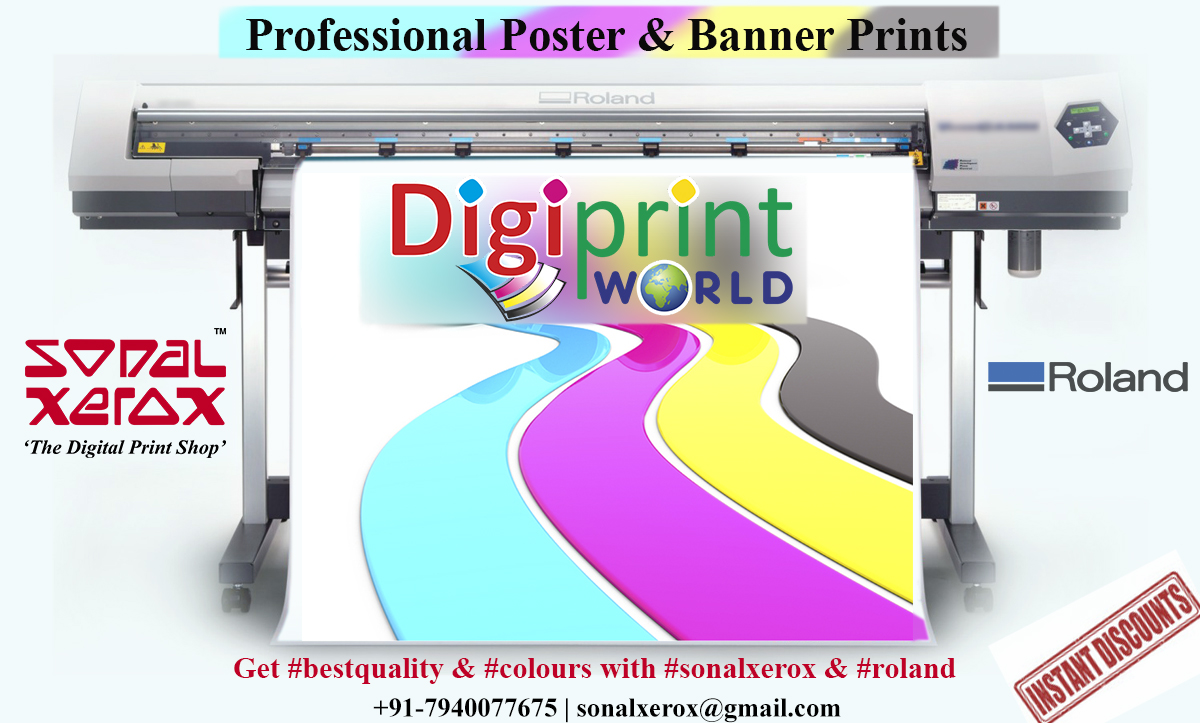 Professional Poster Prints with Sonal Xerox & Roland