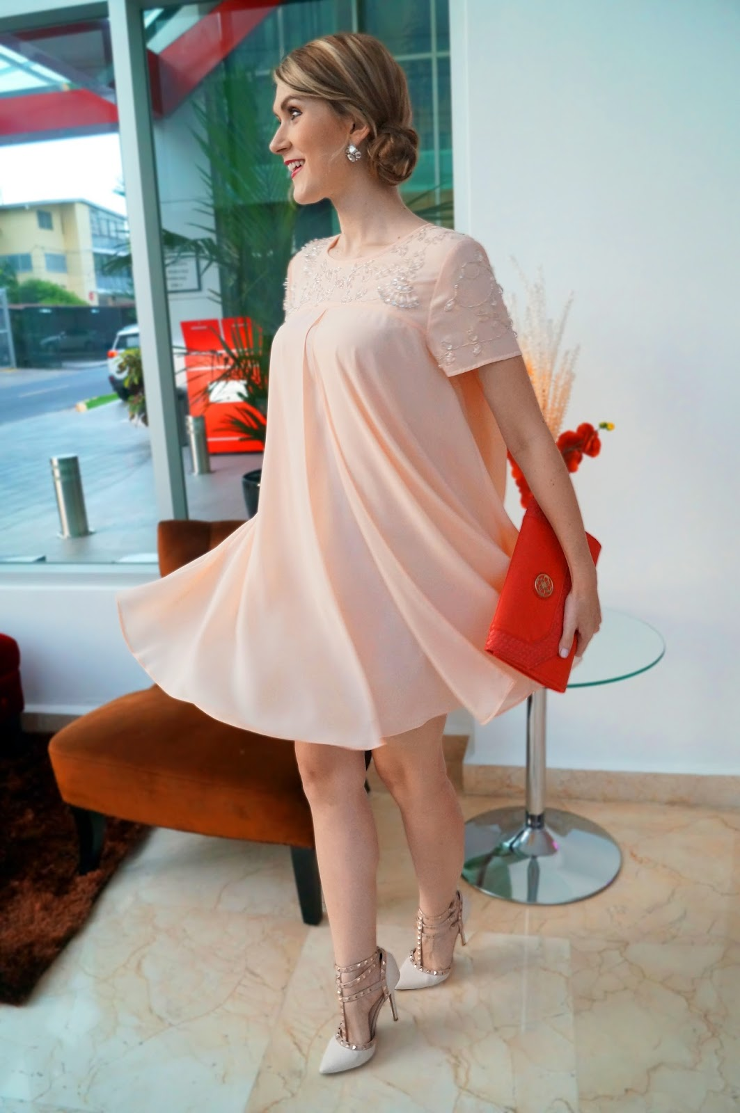 Beautiful Forever21 Pink Dress
