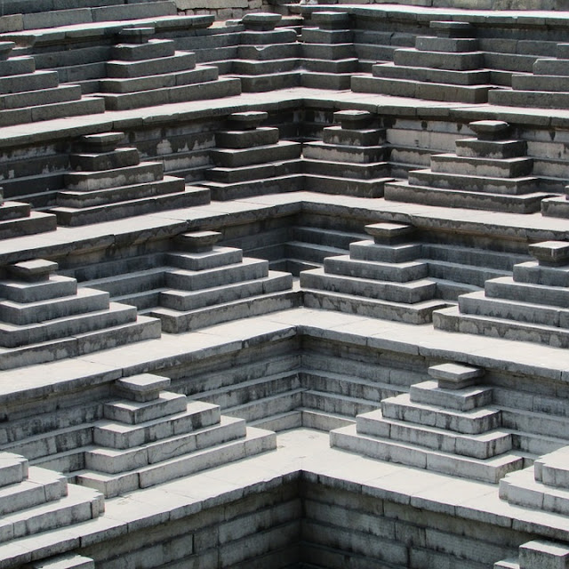 hampi temple stairs images