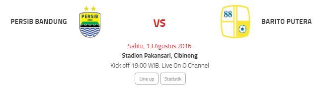 Siaran Langsung Persib Bandung vs Barito Putera di O Channel