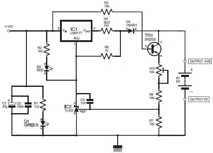 dual mode battery charger circuit circuit diagram