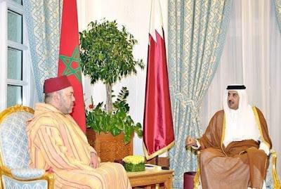 الأنشطة الملكية - جلالة الملك محمد السادس نصره الله  يشيد بمستوى العلاقات المغربية القطرية