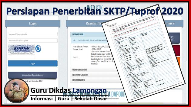 Persiapan Penerbitan SKTP/Tuprof 2020