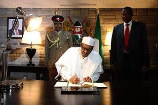 Photos of President Buhari in Kenya