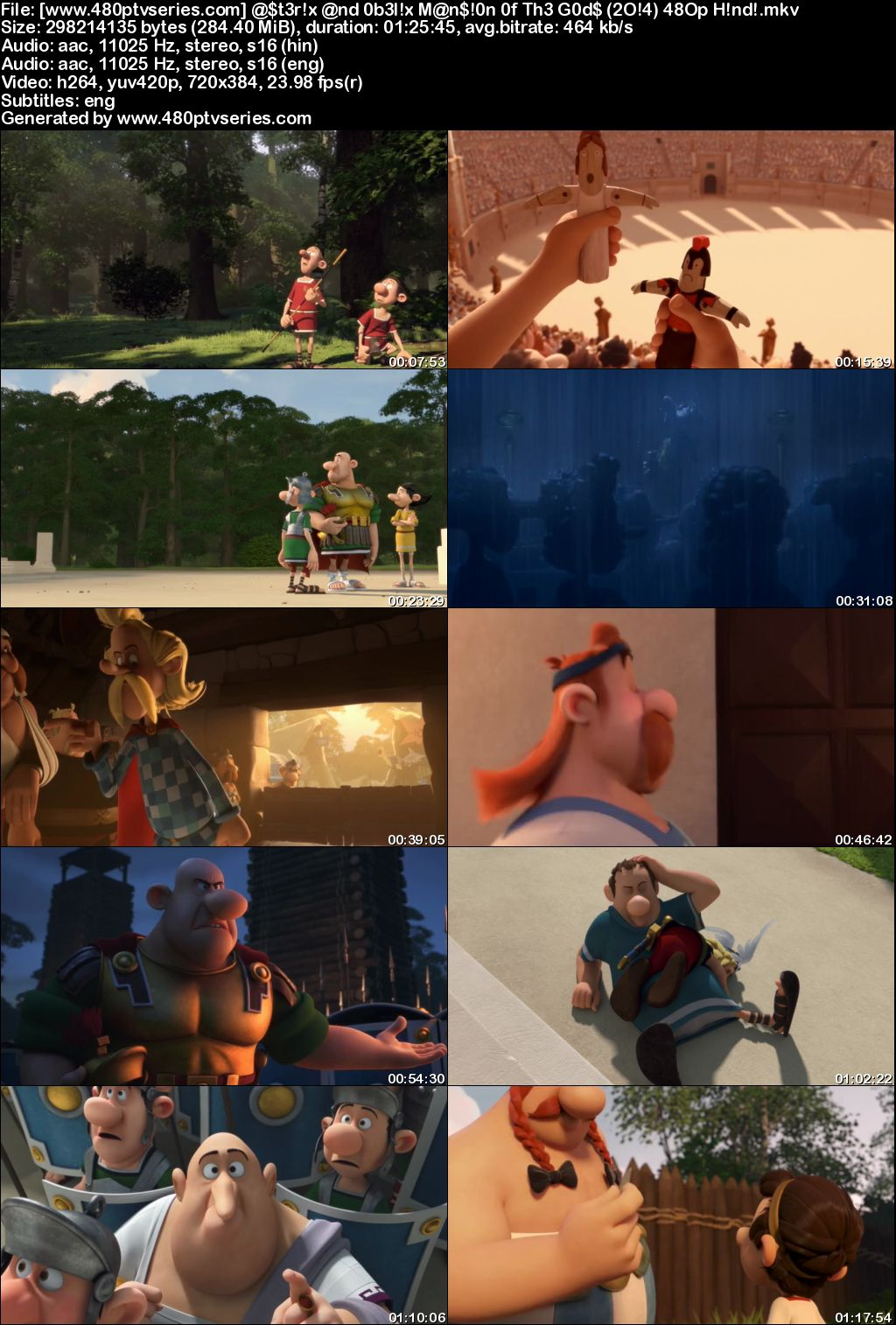 Asterix and Obelix: Mansion of the Gods (2014) 300MB Full Hindi Dual Audio Movie Download 480p Bluray Free Watch Online Full Movie Download Worldfree4u 9xmovies