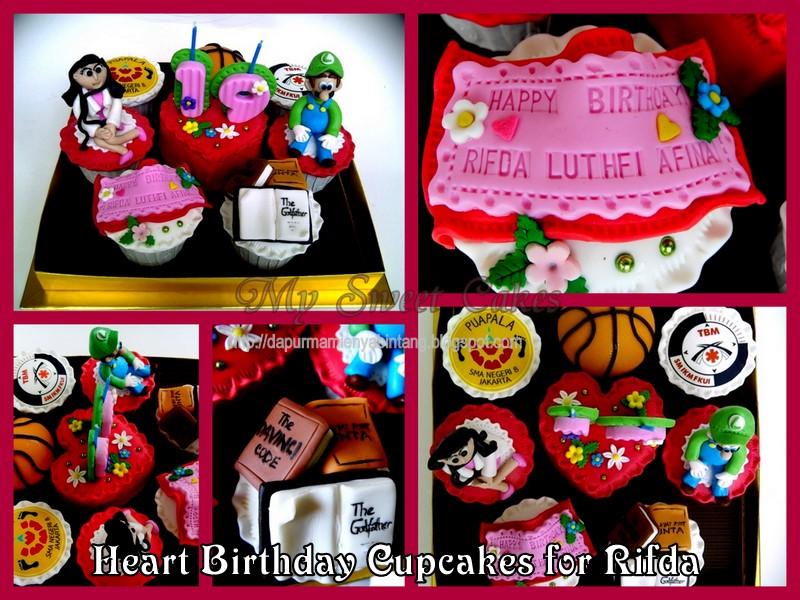 My Sweet Cake Heart Birthday Cupcakes For Rifda