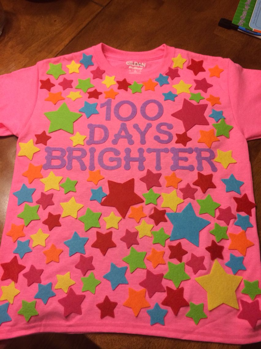100 Days Brighter - 100 Days of School Shirt Idea