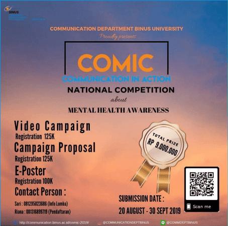 Event Communication in Action (Comic) Binus 2019 Untuk SMA Sederajat & Mahasiswa