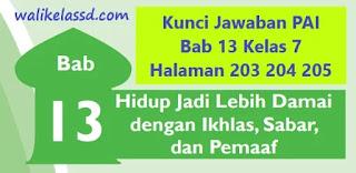 Kunci Jawaban PAI Bab 13 Kelas 7 Halaman 203 204 205