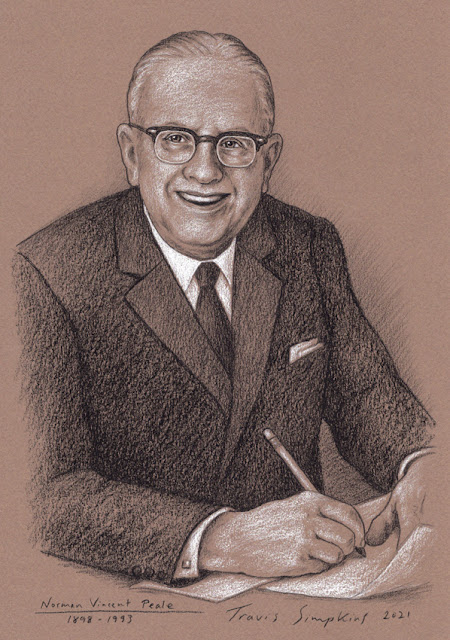 Norman Vincent Peale. Minister and Author. Freemason. The Power of Positive Thinking. by Travis Simpkins