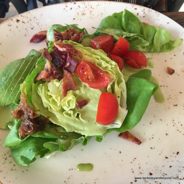 wedge salad at Cello restaurant at Allegretto Vineyard Resort in Paso Robles, California