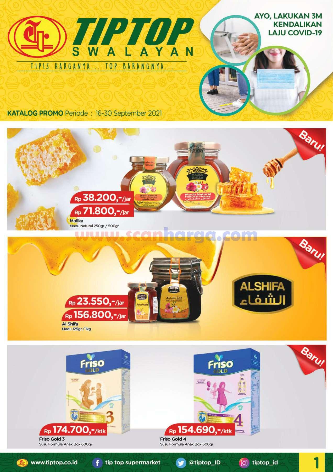 Katalog Promo Tip Top Pasar Swalayan 16 - 30 September 2021