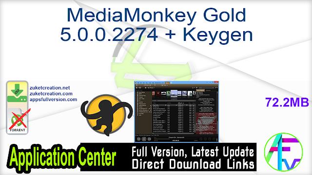 MediaMonkey Gold 5.0.0.2274 + Keygen