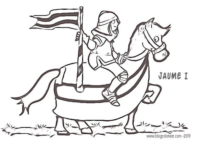 rey Jaime I para colorear