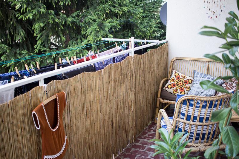 DIY Aufhängung für Wäscheleine