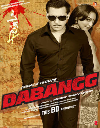 Poster Of Dabangg 2010 Hindi 400MB BRRip 720p ESubs HEVC Watch Online Free Download Worldfree4u