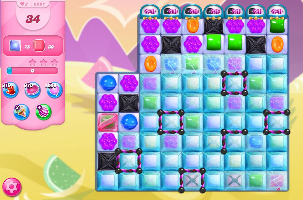 Candy Crush Saga level 8890