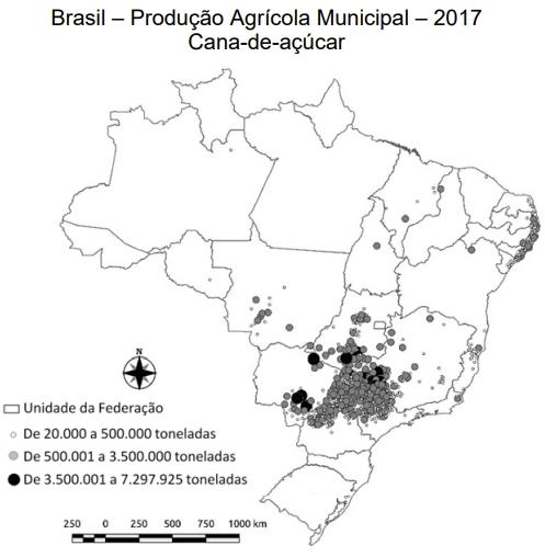 UNICAMP 2021: A produção agrícola nacional, para os mercados interno e externo, aparece como ponto fundamental para o Produto Interno Bruto nacional. Sobre as culturas de cana-deaçúcar e manga é correto afirmar: