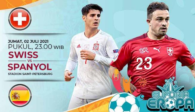 Nonton Siaran Langsung Swiss vs Spanyol EURO 2020 - Link Live Streaming Gratis