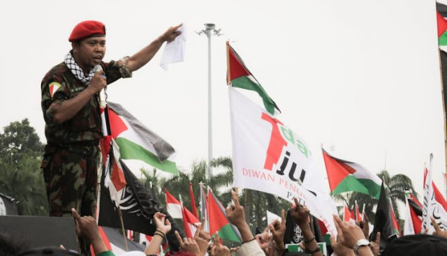 Di Aksi Bela Palestina, Pemuda Indonesia Berikrar Jihad ke Palestina