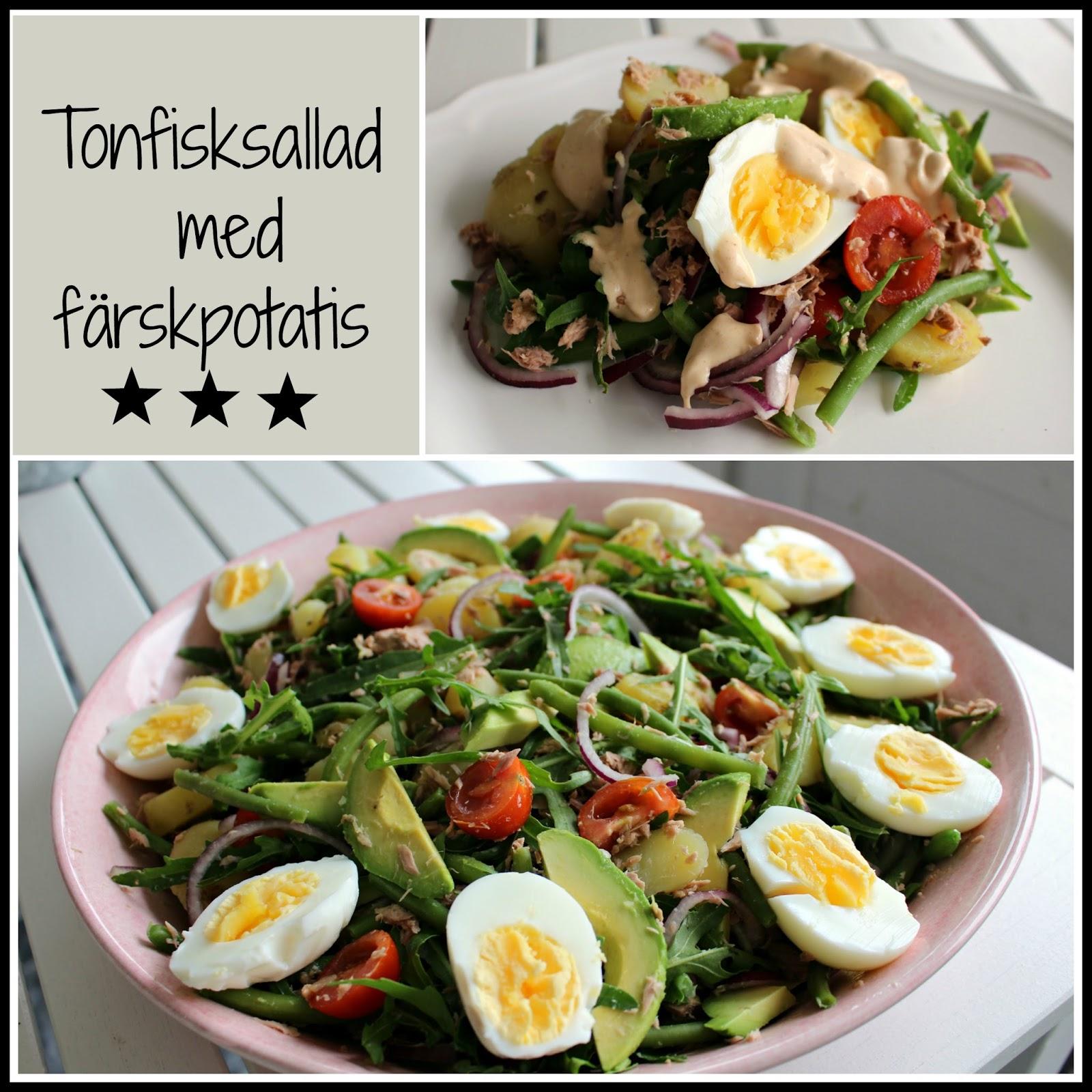 tonfisksallad med ägg och majonnäs