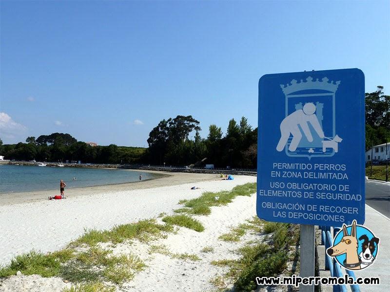 Entrada de la Playa Canina del Concello de Ares