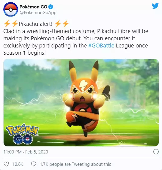 What Everyone Must Know About PIKACHU LIBRE OUTFIT POKEMON GO