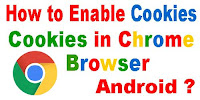 How to Enable Cookies in Chrome Browser Android?