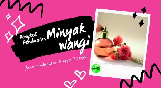 BENGKEL PEMBUATAN MINYAK WANGI (PERSONAL TRAINING) VIP5-0006