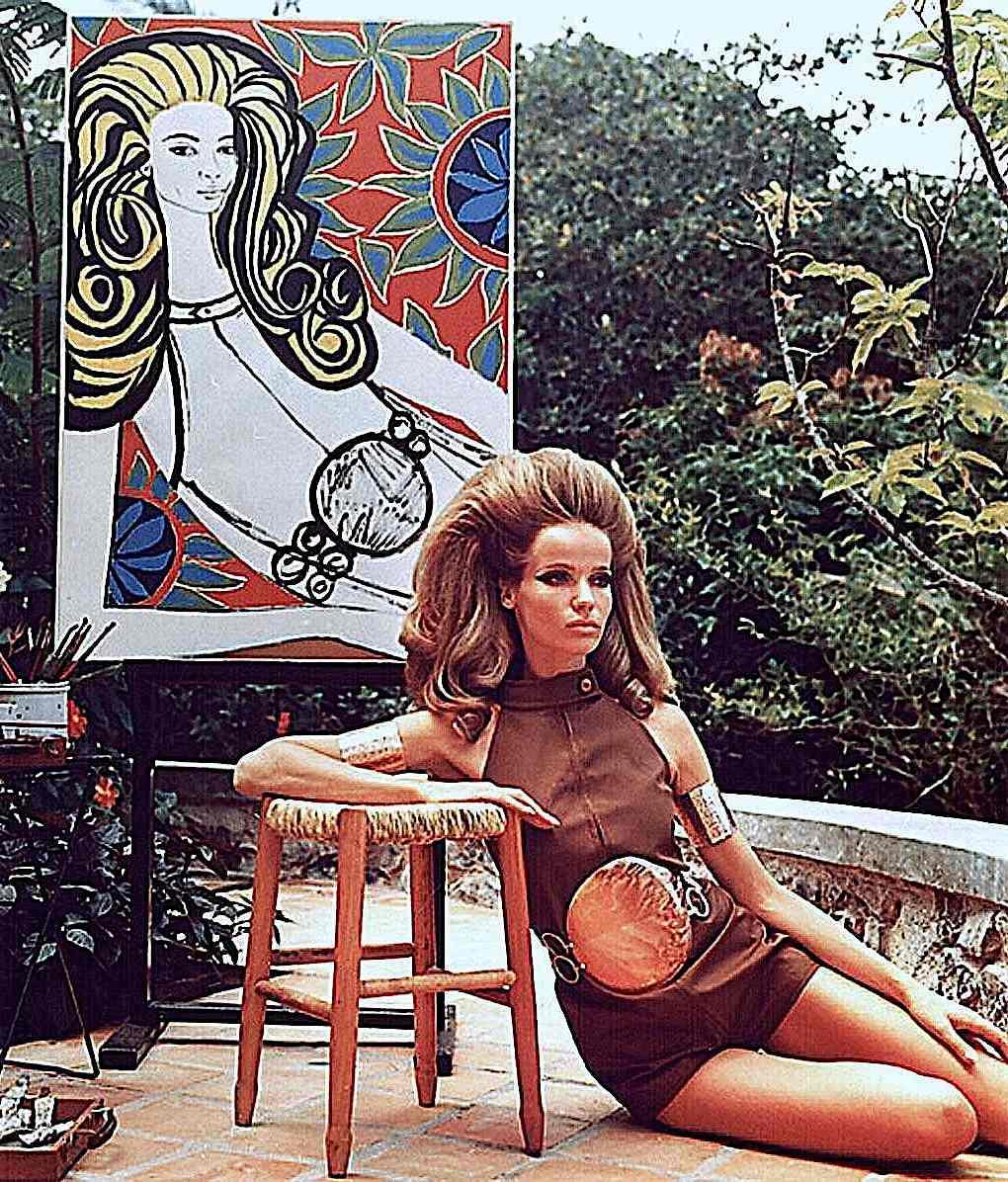 a 1967 mod model, see through dress