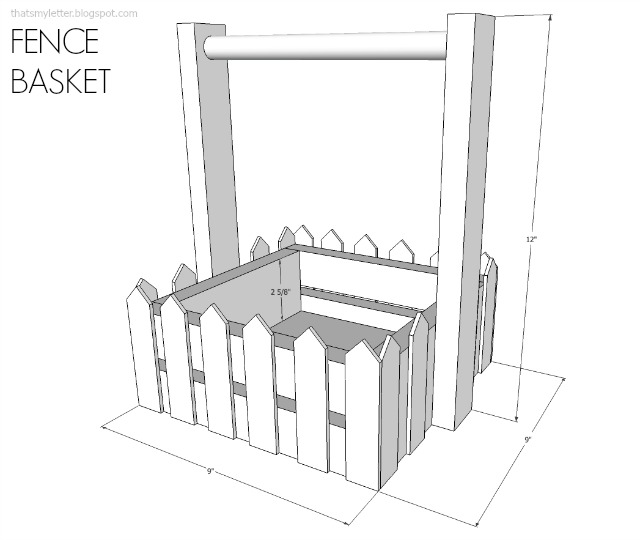 fence style basket free plans