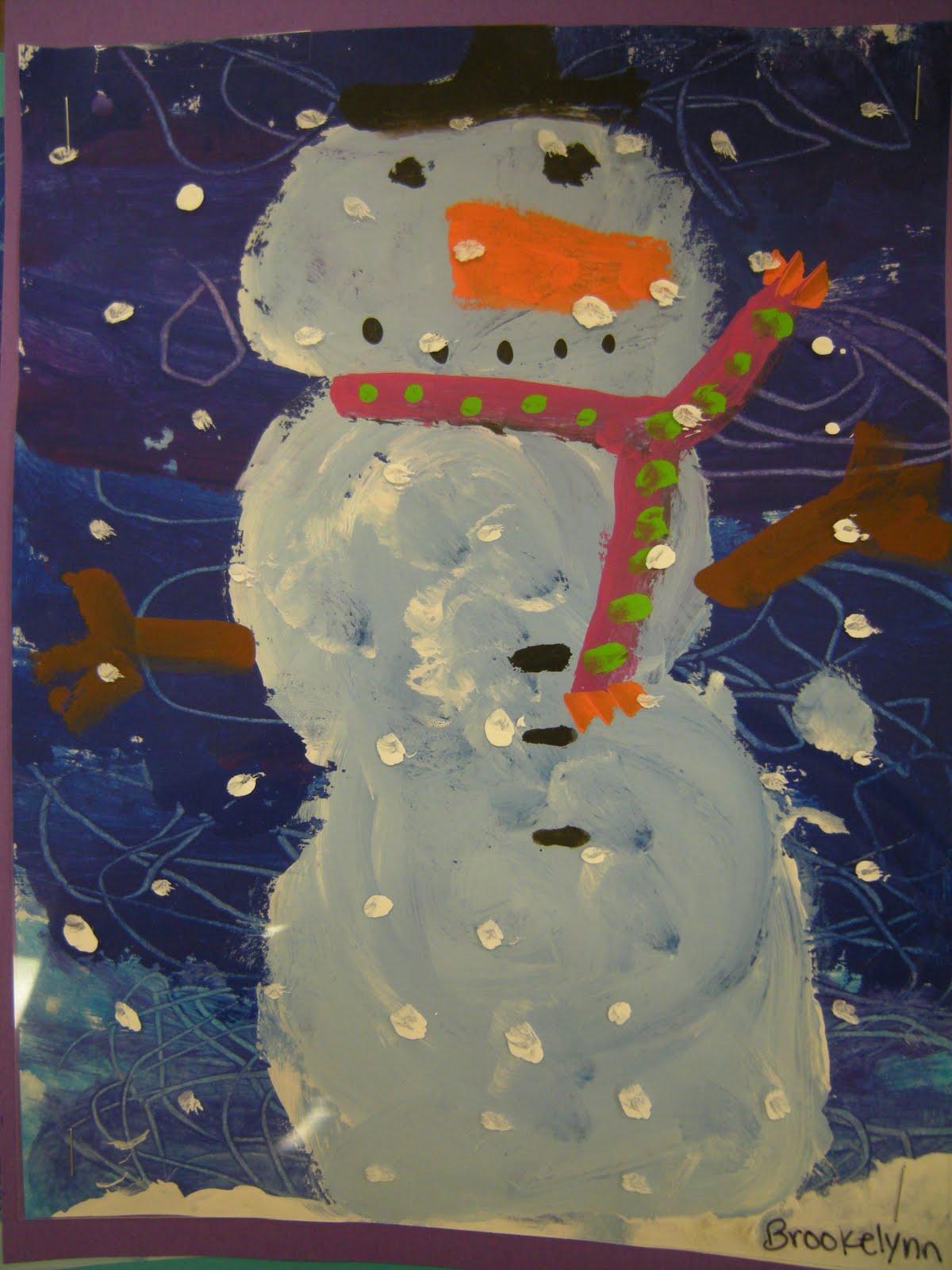 Artolazzi: Dream Snow Snowman Paintings