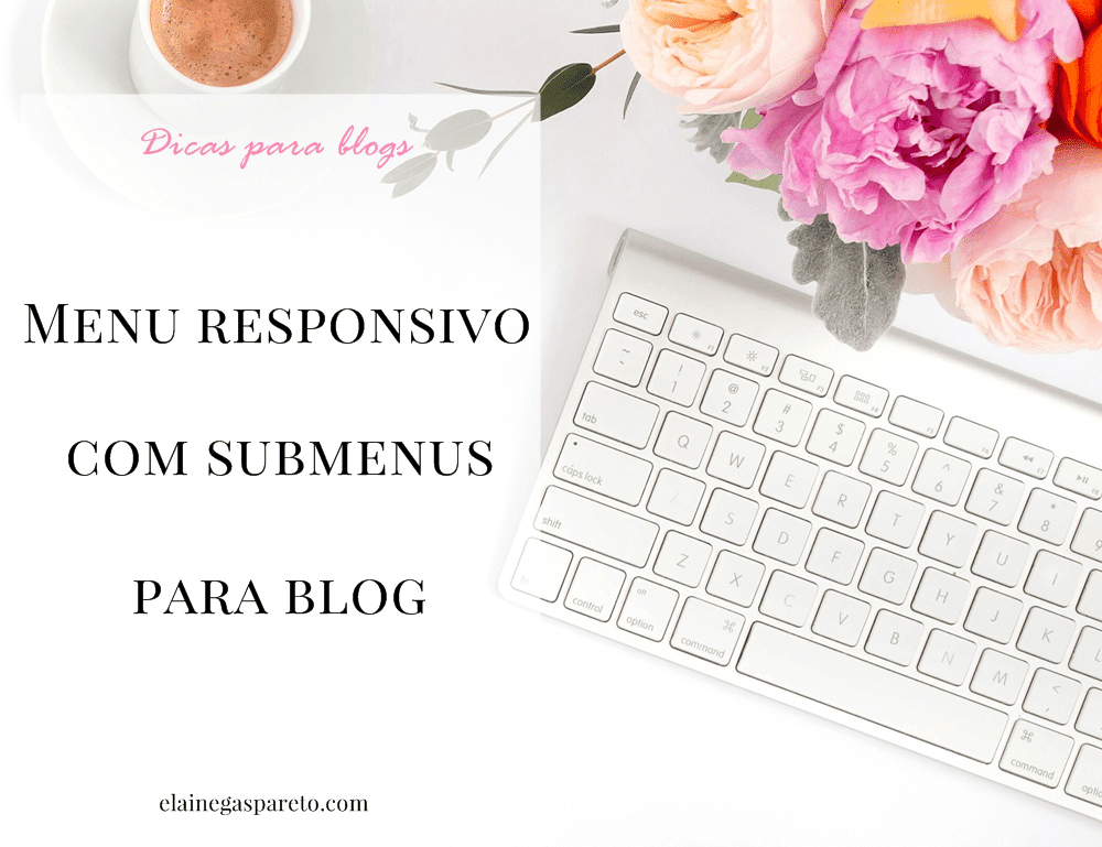 Menu responsivo com submenus para blog