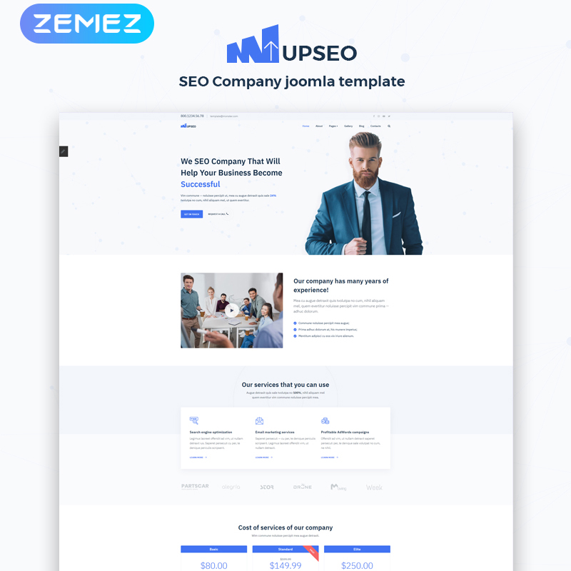 UPSEO - SEO Ready-to-Use Clean Joomla Template